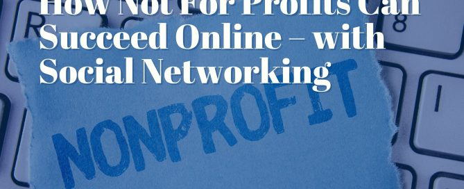 How Not For Profits Can Succeed Online – with Social Networking