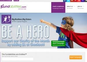 Fundabilities website homepage screen shot