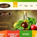 Meesh's Marinara website screen shot