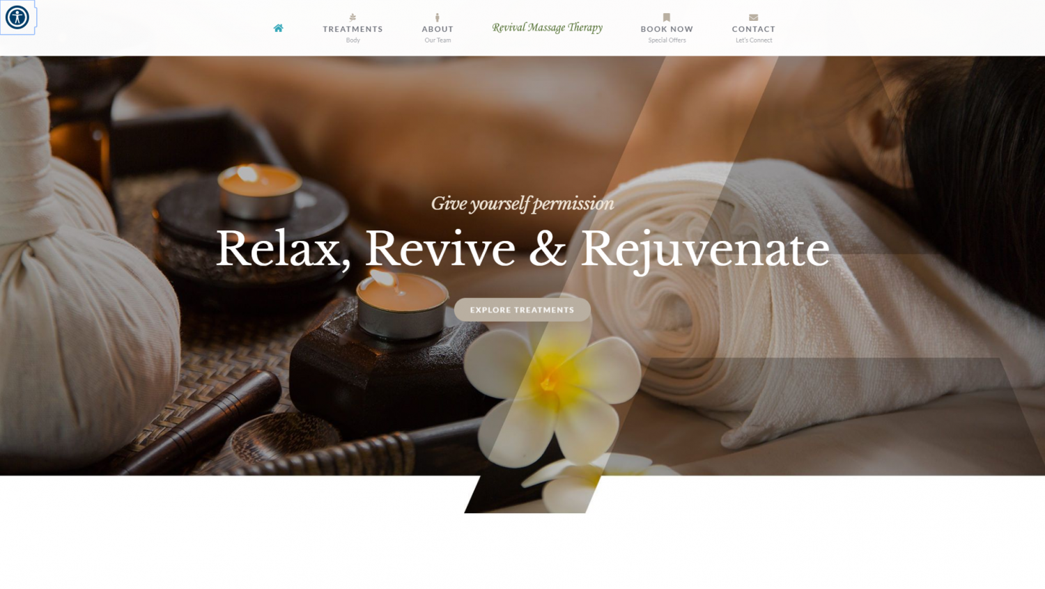 revival massage website